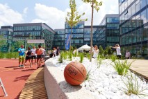 Multifunctional sport courts lively with sports